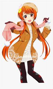 Anime, Female, Character, With, Orange, Hair