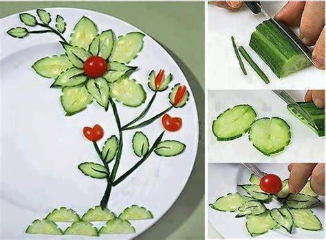 cucumber salad decoration wonderful diy food garnishing