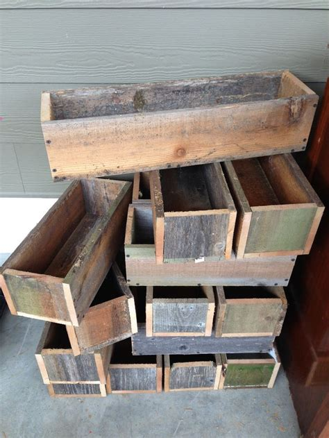 cedar boxes repurposed fence boards   options