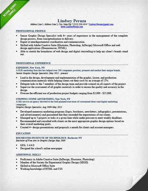 graphic design resume sample writing guide rg