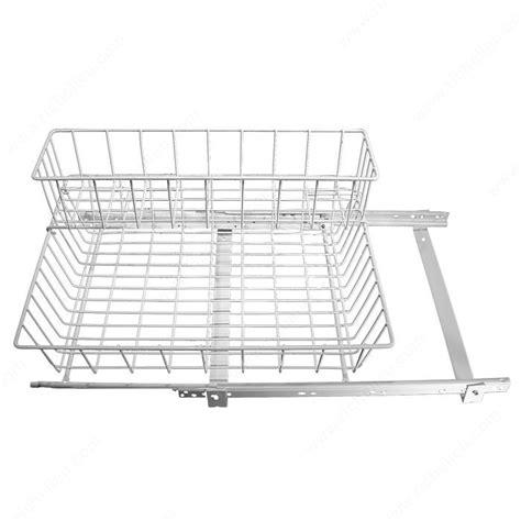 kitchen sink baskets white pull out undersink basket white richelieu hardware 5648