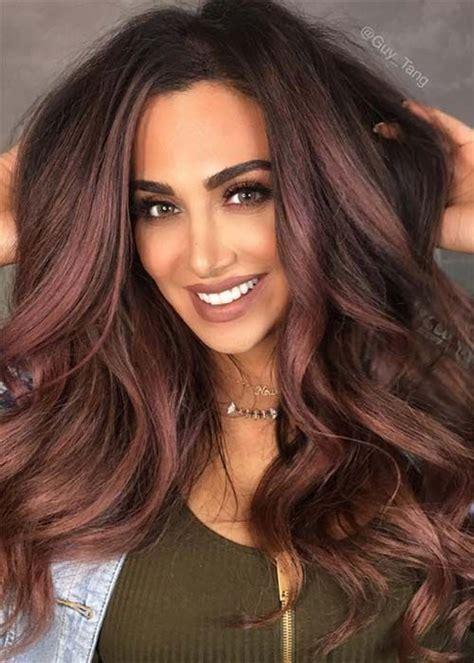 cheveux couleur chocolat couleurs cheveux 2017 la tendance chocolat mauve sera en t 234 te de liste coiffure simple et facile