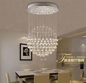 Lustre Cristal Moderne : acheter simple et moderne gu10 led pendentif en cristal lampe lustre ballon rond ~ Teatrodelosmanantiales.com Idées de Décoration