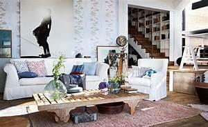 Wandgestaltung Wohnzimmer Erdtöne : mediterran wohnen ~ Markanthonyermac.com Haus und Dekorationen