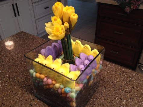 easy diy spring centerpiece  easter candy