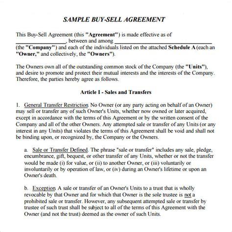 buy sell agreement template bizoptimizerus
