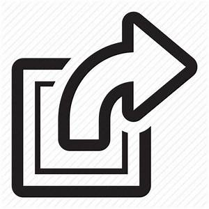 Action, arrow, box, export, go, new, open, send, send to ...