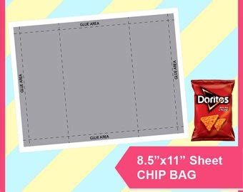 chip bag template for printables etsy