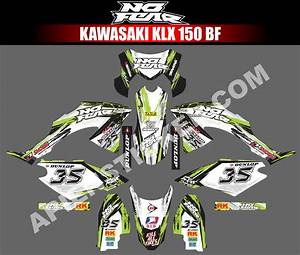 Striping Motor Kawasaki Klx Bf 150 No Fear