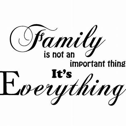Everything Transparent Sticker Citation Famille Familie Importance