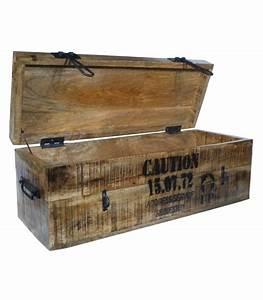 Malle En Bois : grande malle de rangement en bois style industriel 39 flexo ~ Melissatoandfro.com Idées de Décoration