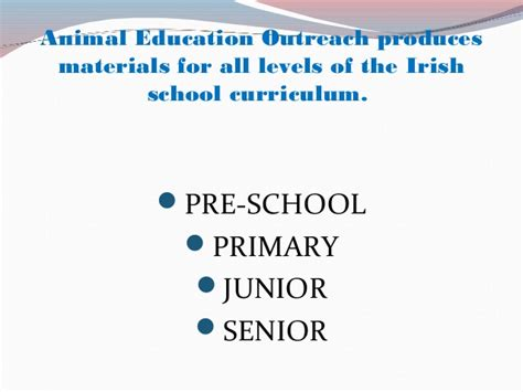 An Introduction To Animal Education Outreach (ireland
