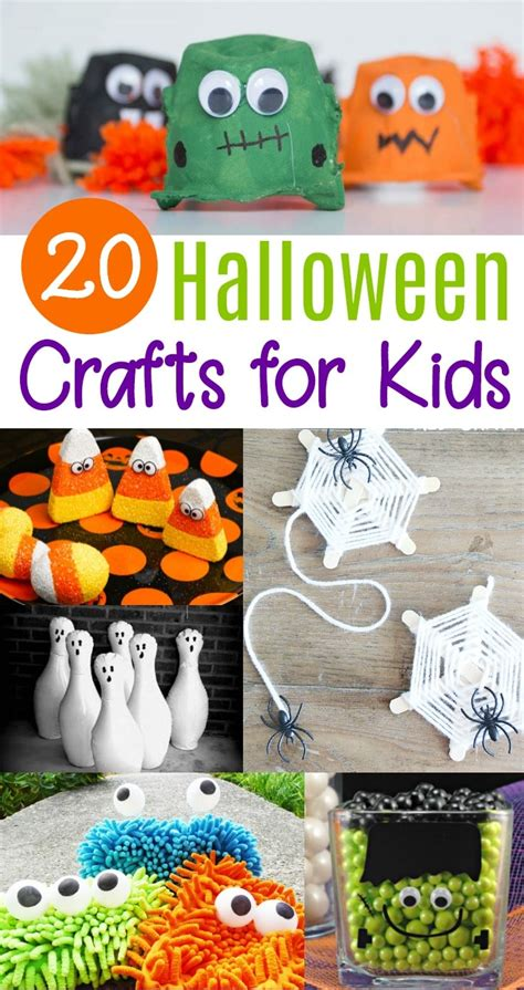 20 Cute & Easy Halloween Crafts For Kids