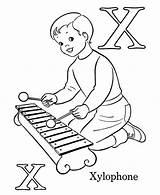 Coloring Xylophone Letter Sheets Template Bulk Bulkcolor San Alphabet Letters sketch template