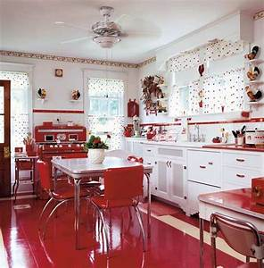 Decoracao de cozinhas vintage for Kitchen colors with white cabinets with rouleaux papier peint