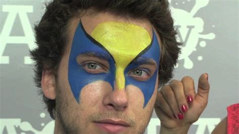 wolverine face painting tutorial youtube