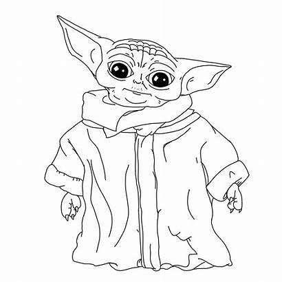 Coloring Yoda Pages Child Bebe Babyyoda Created