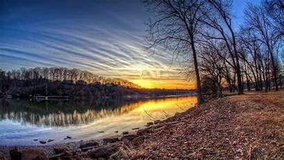Late Winter Autumn Sunset Desktop Nature Background