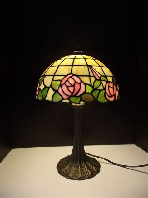red rose stained glass table lamp shades video
