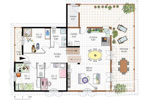 cuisine meubles blancs maison familiale 4 dé du plan de maison familiale 4