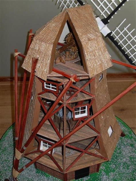 amati dutch windmill  scale quality wooden model kit