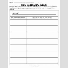 New Vocabulary Words Worksheet  Have Fun Teaching