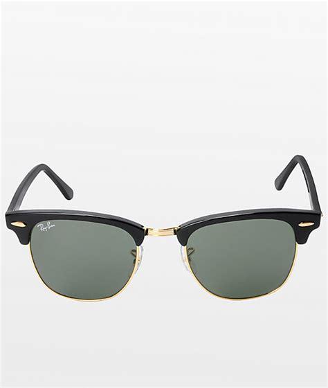 ray ban clubmaster black gold sunglasses zumiez
