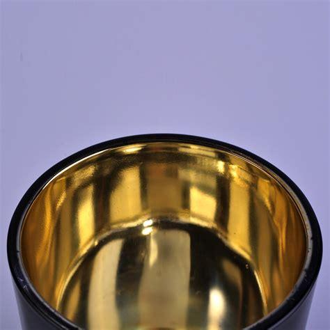 luxury black  gold painting votive glass candles jar
