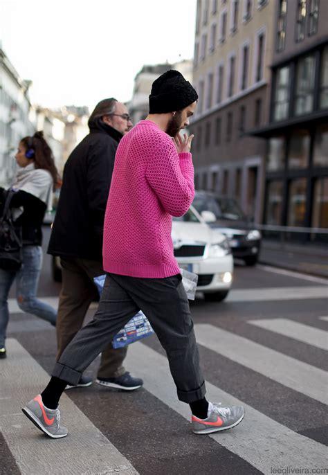 Mens Pink Street Style   GRAVERAVENS