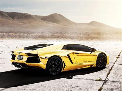 Gold Lamborghini Aventador Lp700-4 Caught On Video In Miami