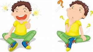 Kid Sitting And Thinking Clipart - Clip Art Library