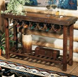 personalized horseshoe western furniture horseshoe wine rack table lone