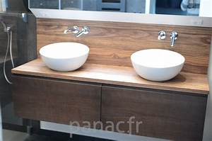 Plan Vasque Bois : plan vasque en bois sur mesure ~ Teatrodelosmanantiales.com Idées de Décoration