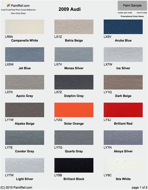 silver color code in paint paint chips 2009 audi