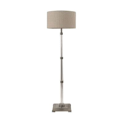 floor l drum shade b126l crystal and pewter floor l with drum shade