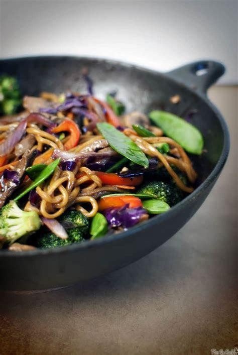 flank steak udon noodle stir fry pass  sushi