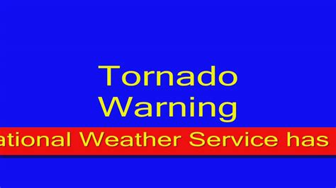 Emergency Alert System Tornado Warning