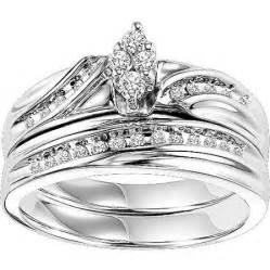 walmart wedding ring forever 1 4 carat t w bridal set in sterling silver walmart