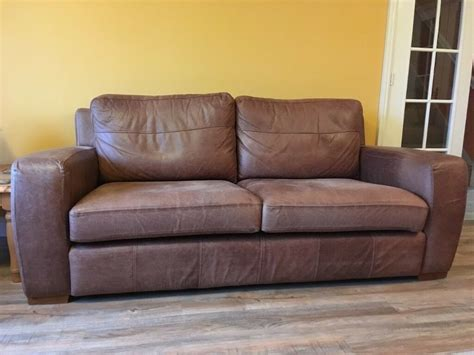 Large Leather Sofa by Large Comfortable Leather Sofa In Sheffield South