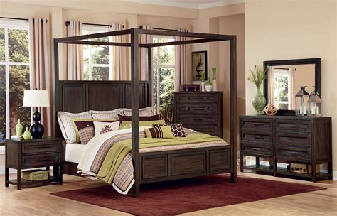 Wood canopy bedroom sets, wood canopy queen bed frame wood