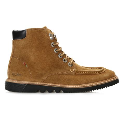 kickers casual prist brown kickers mens ankle boots brown kwamie boat lace up