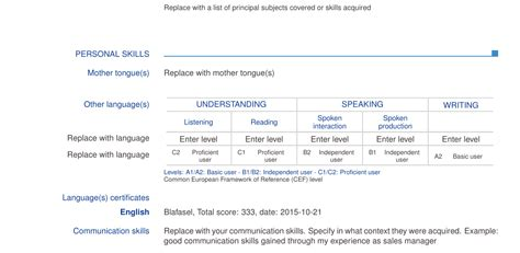 Language Levels Resume by Resume Languages Levels Skills How Should I Indicate