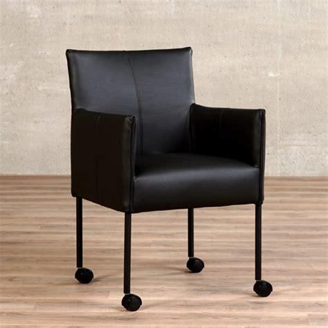 leren stoelen met armleuning bol leren eetkamerstoel met wieltjes en armleuning
