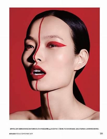 Makeup Vogue Looks Models China Ling Liu
