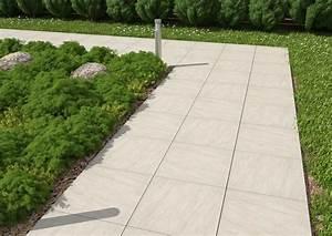 DALLE ARTENS carrelage extérieur en grès cérame de 2 cm GRIS effet beton usé CARRA France