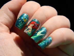 Little mermaid nails disney four daughters and nail polish pi