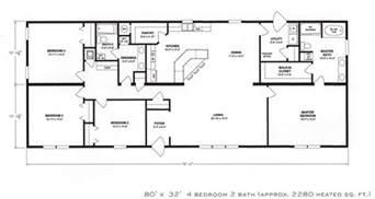 home floor plans 4 bedroom floor plan f 1001 hawks homes manufactured modular conway rock arkansas