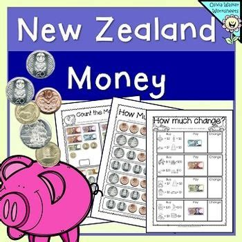 new zealand money worksheets printables lower primary