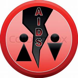 Stop Aids And Men With Woman In Red