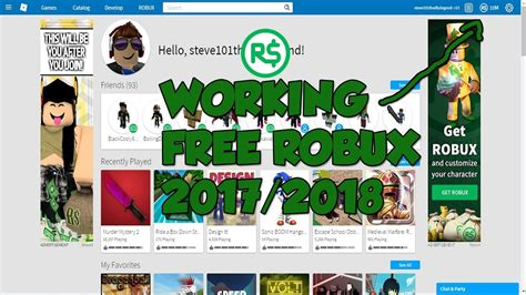 working   robux roblox youtube